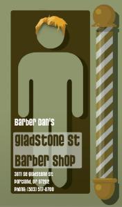 Barber Dan's Card