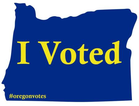 I Voted Sticker OREGON